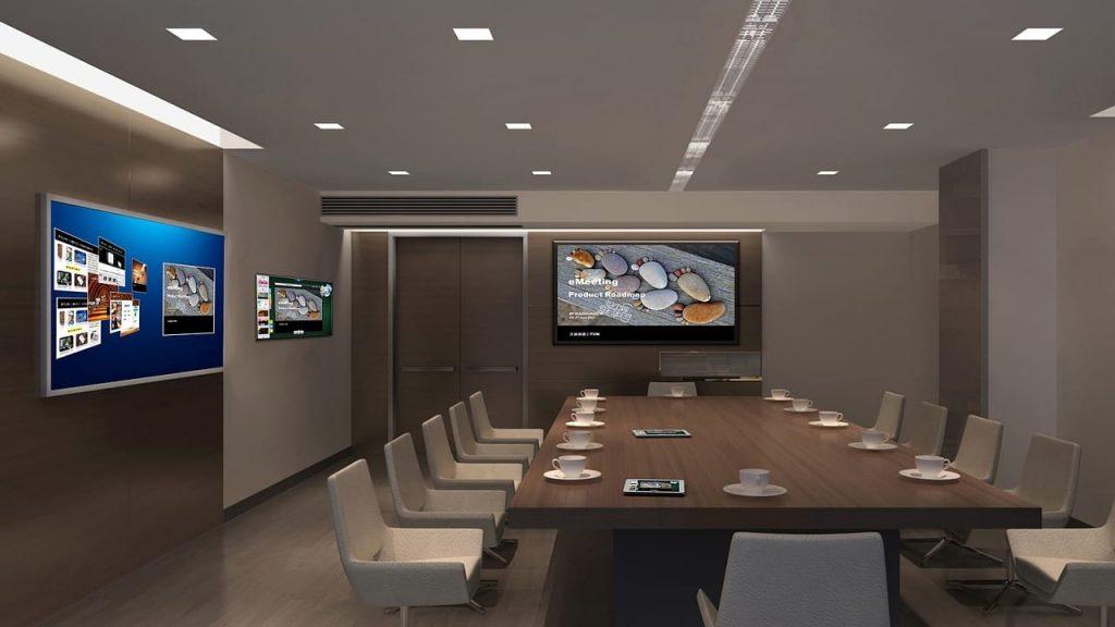 Réunions et événements avec du matériel de qualité audio visuel