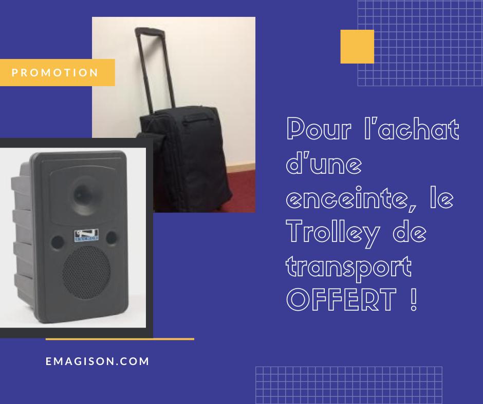 offert, la valise de transport de sonorisation