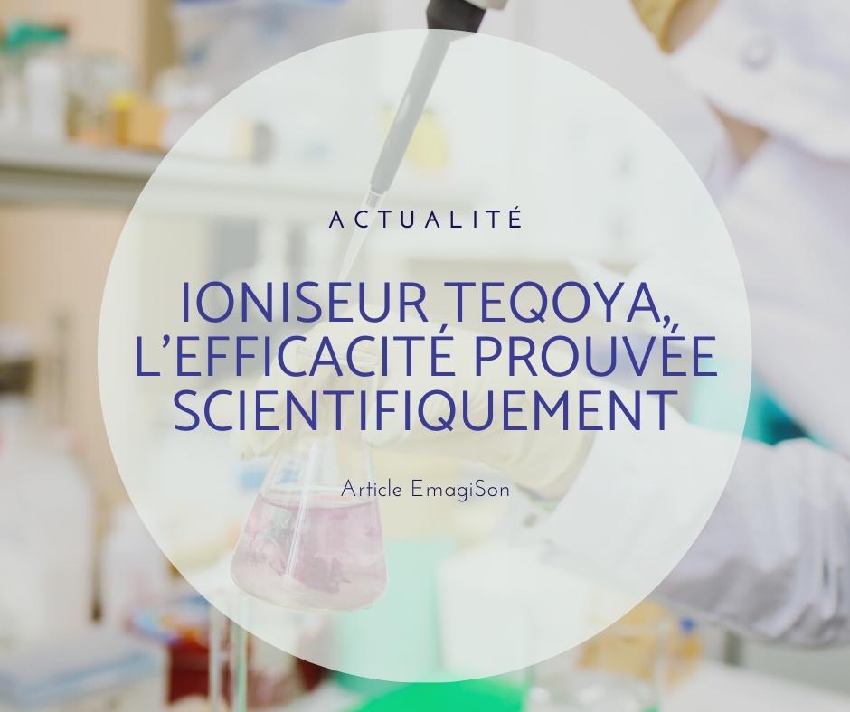 des tests effectués sur l'efficacité des ioniseurs Teqoya